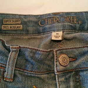 Cherokee Bottoms - 30%/4. CHEROKEE SUPER SKINNY GIRLS JEANS 14